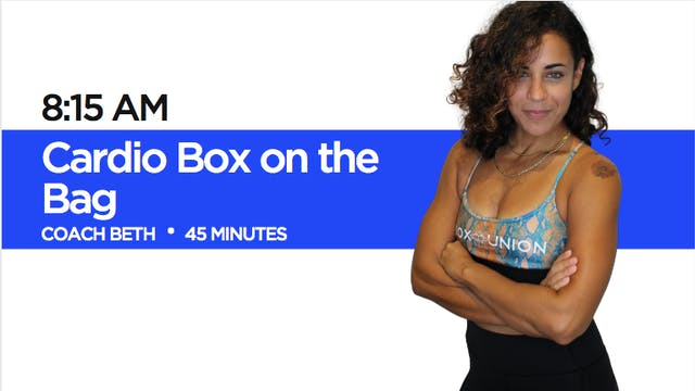 Cardio Box on the Bag with Coach Beth