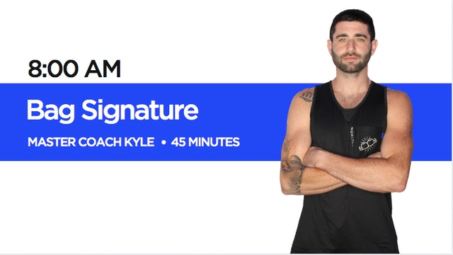 Bag Signature Class with Coach Kyle