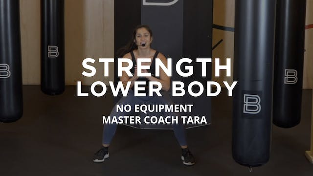 Strength - Lower Body: No Equipment