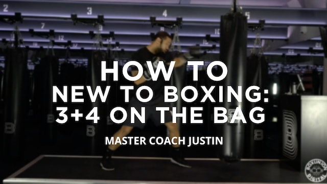 How To - New To Boxing: 3 + 4 On The Bag