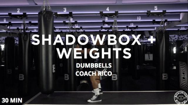 30min Shadowbox + Weights