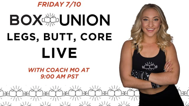 LIVE Legs, Butt, Core: Class with Coa...