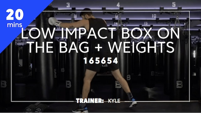30min Low Impact Box on the Bag + Weights