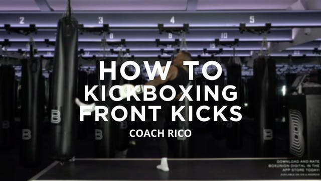 How To - Kickboxing: Front Kicks