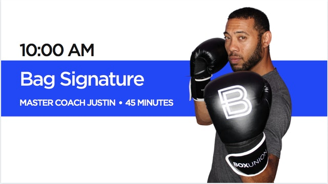 Bag Signature Class with Coach Justin