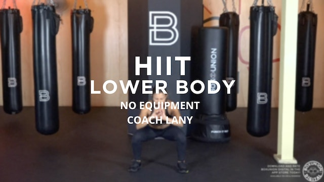 HIIT - Lower Body: No Equipment