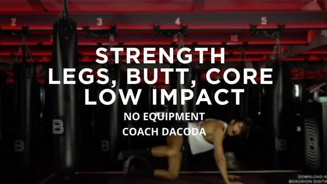 Strength - Legs, Butt, Core: Low Impa...
