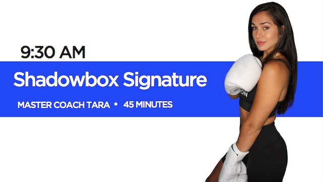 Shadowbox Signature Class with Coach ...