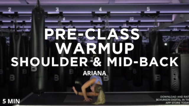 Shoulder & Mid-Back Drills