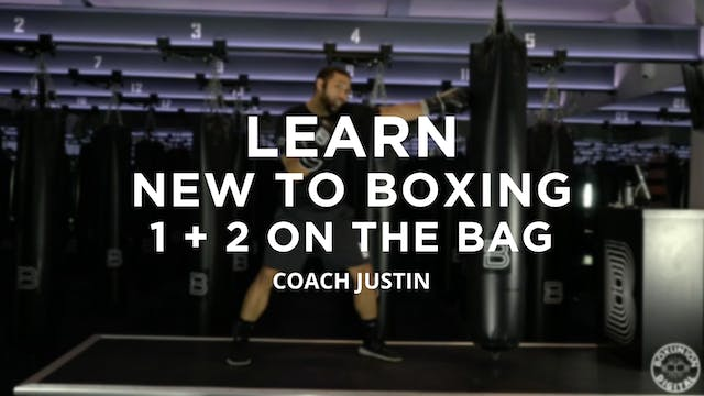 Learn - New To Boxing: 1 + 2 On The Bag