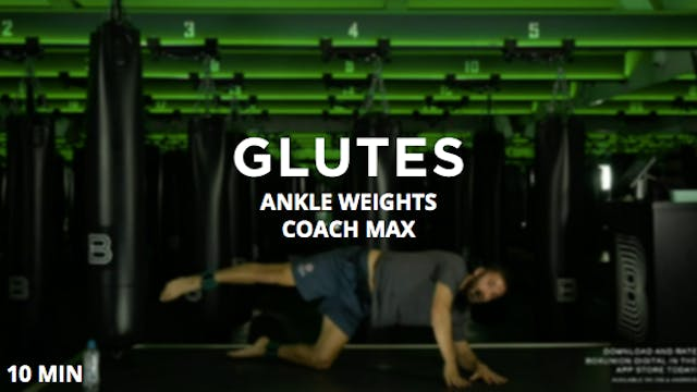 10min Glutes w/ Ankle Weights