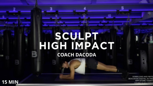 Sculpt - High Impact - 8/12/2020