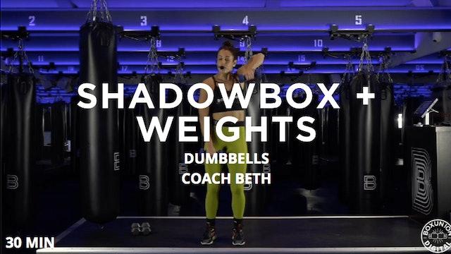 30min Cardio Shadowbox + Weights