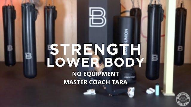 Strength - Lower Body: No Equipment