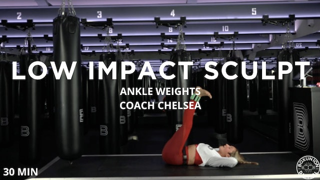 30min Low Impact Sculpt w/ Ankle Weights