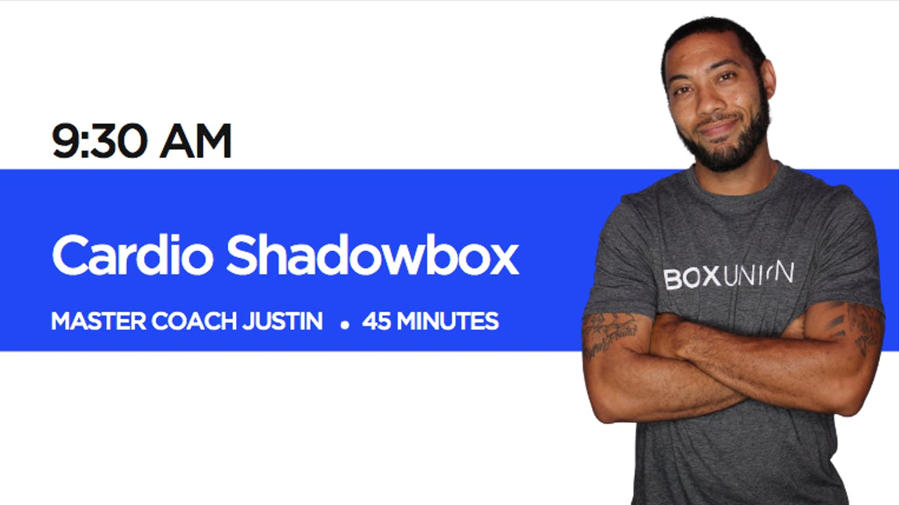 Cardio Shadowbox with Coach Justin