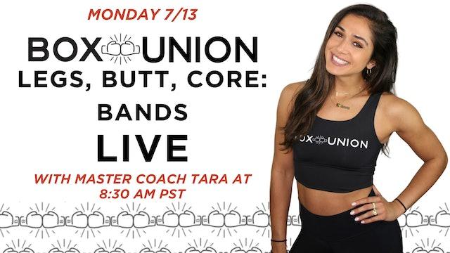LIVE Legs, Butt, Core: Bands With Coach Tara