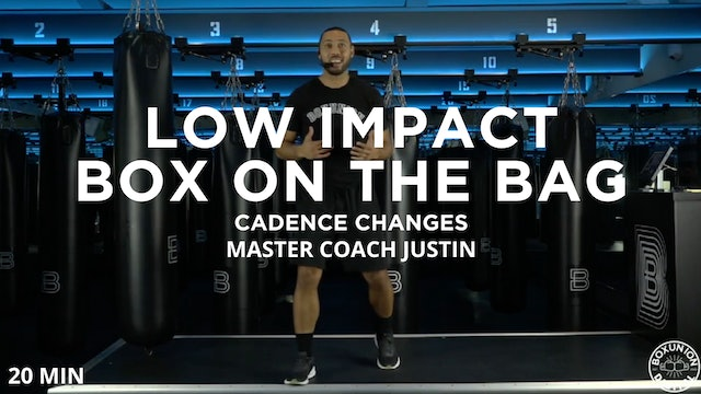 Low Impact 20 Minute Cadence Bag Class