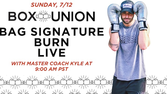 LIVE Bag Signature Burn with Coach Kyle