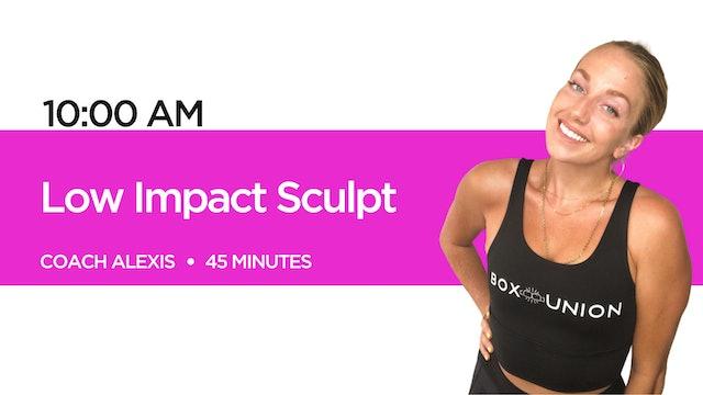 Low Impact Sculpt with Coach Alexis