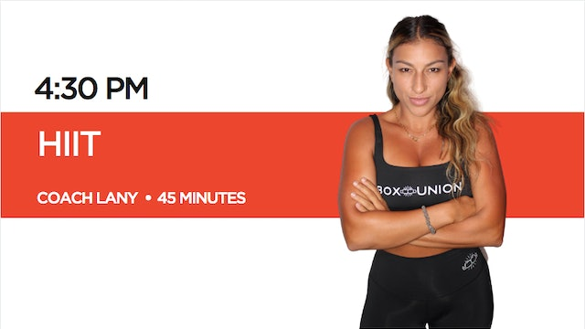 HIIT Class with Coach Lany