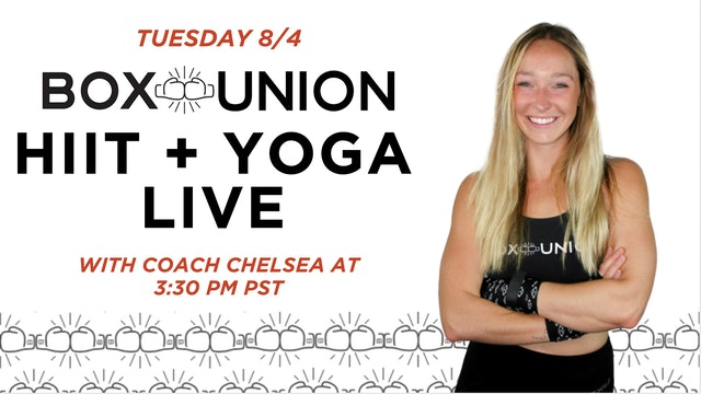 LIVE HIIT + Yoga Class with Coach Chelsea
