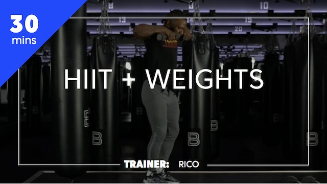 30min HIIT + Weights