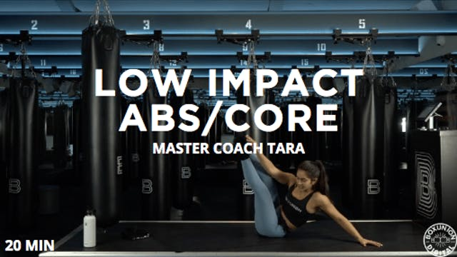 20min Low Impact Abs/Core