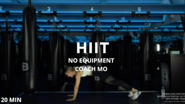 20min Bodyweight HIIT