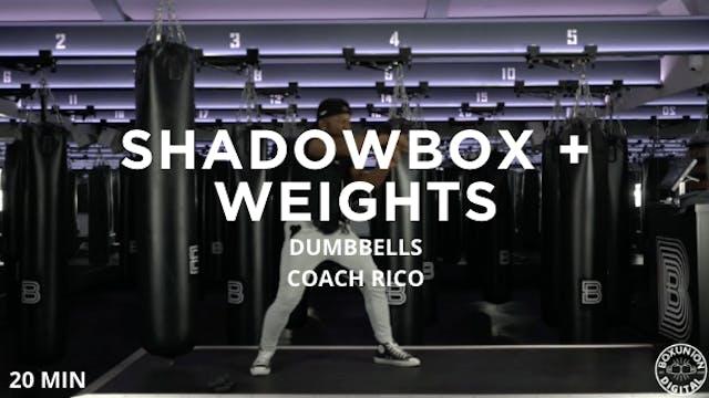 20min Shadowbox + Hand Weights