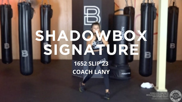 Shadowbox Signature: 1652 SLIP 23