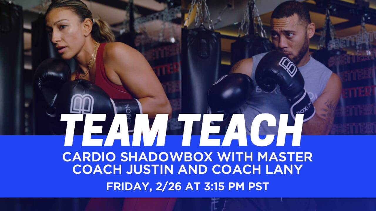 Cardio Shadowbox with Coach Justin & Lany