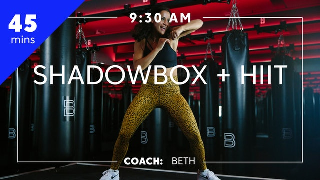 Shadowbox + HIIT with Coach Beth
