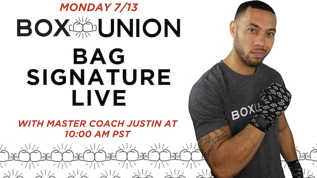 LIVE Bag Signature Class with Coach Justin