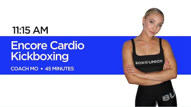 Encore Cardio Kickboxing with Coach Mo