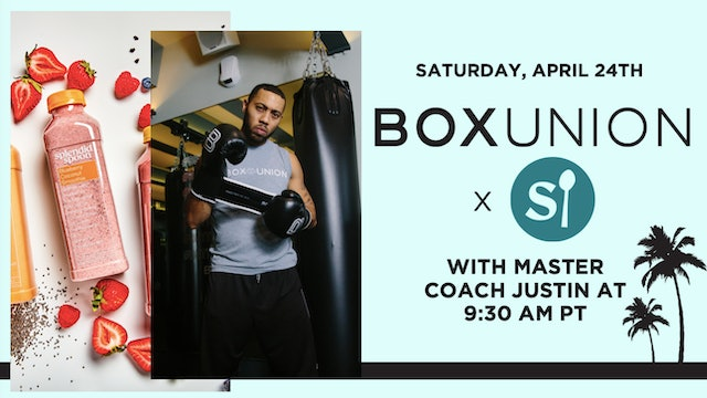 BoxUnion x Splendid Spoon Shadowbox w Coach Justin