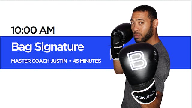 Bag Signature Class with Coach Justin
