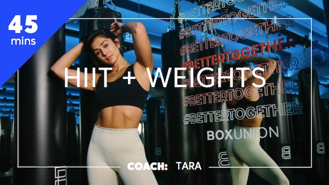 Encore HIIT + Weights with Coach Tara