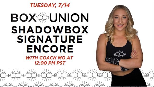 Encore Shadowbox Signature with Coach Mo