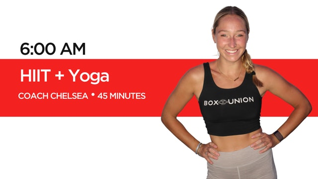 HIIT + Yoga with Coach Chelsea