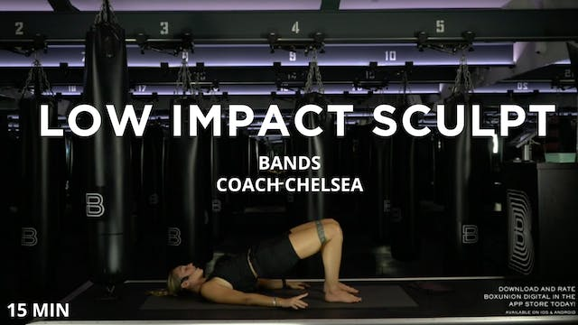 15min Low Impact Sculpt w/ Bands