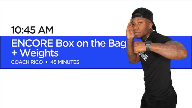 Box on the Bag + Weights with Coach Rico