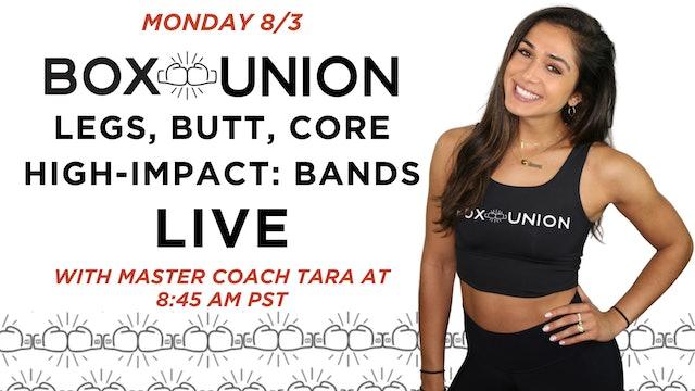 LIVE Legs, Butt, Core: High Impact Bands with Coach Tara
