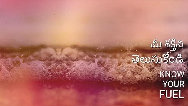 మీ శక్తిని తెలుసుకోండి. Know your fuel (Telugu)