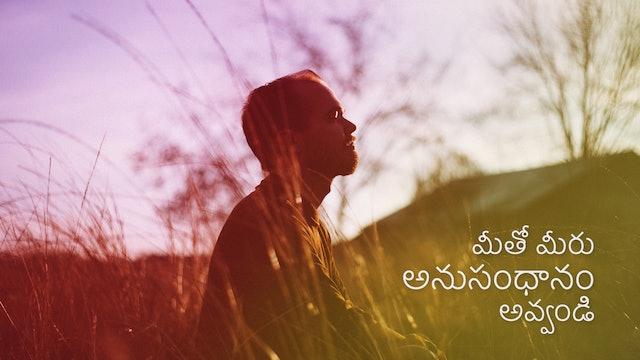 మీతో మీరు అనుసంధానం అవ్వండి. Connect to yourself (Telugu)