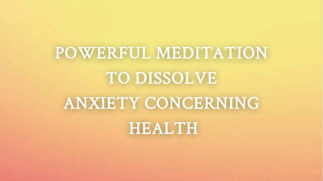 Dissolve Anxiety Concerning Health
