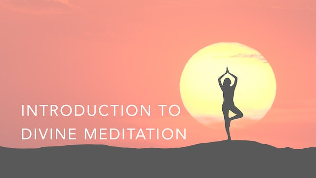 Introduction to Divine Meditation