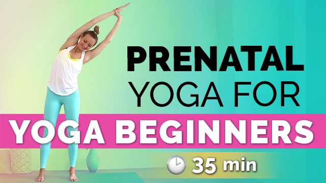 Prenatal Yoga for Yoga Beginners (35 min) - Easy & Gentle!
