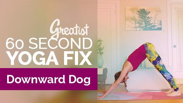 How to Do Downward Facing Dog   Yoga Alignment   Greatist 60-Second Yoga Fix: Adho Mukha Svanasana