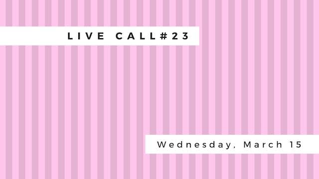Live Call # 23 B 5.3 | B 5.4